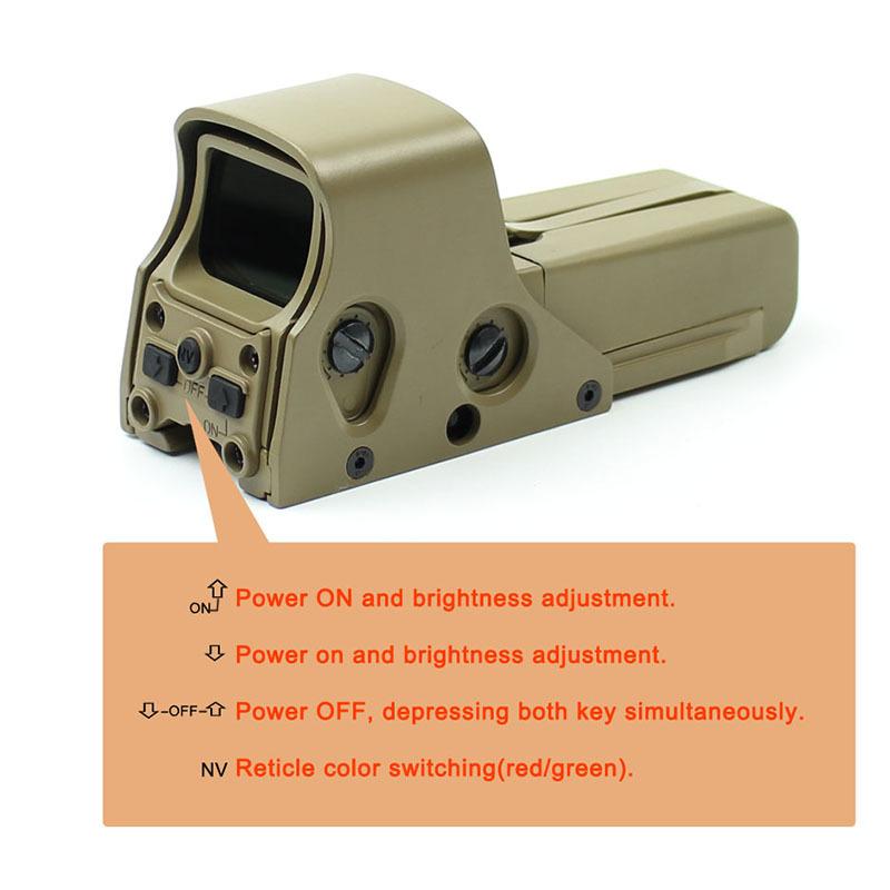 Hot red dot sight reviews rimfire tactical red dot sight big Long Xiang Optics