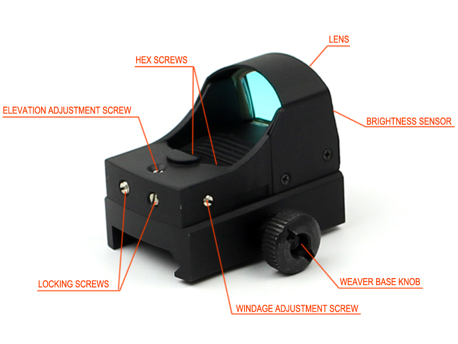 waterproof auto tactical red dot sight rimfire Long Xiang Optics