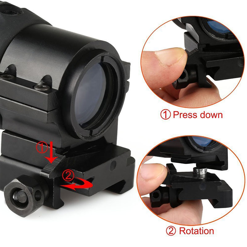 Long Xiang Optics-Best Picatinny Rail 3x Magnifier For Red Dot Tactical Scope Zb3x21-7