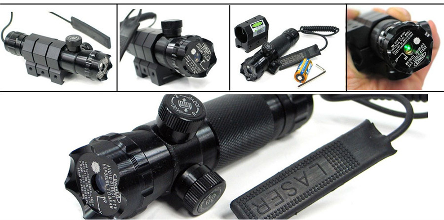 tactical flashlight with laser outdoor Long Xiang Optics Brand tactical laser pointer