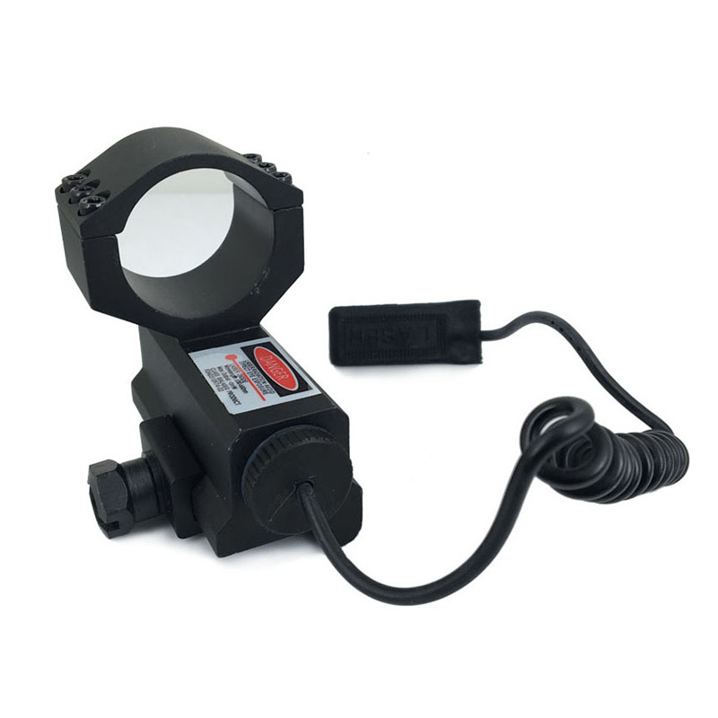 Long Xiang Optics Brand on tactical flashlight with laser crimson mini