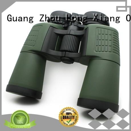Custom green color waterproof binoculars Long Xiang Optics porro