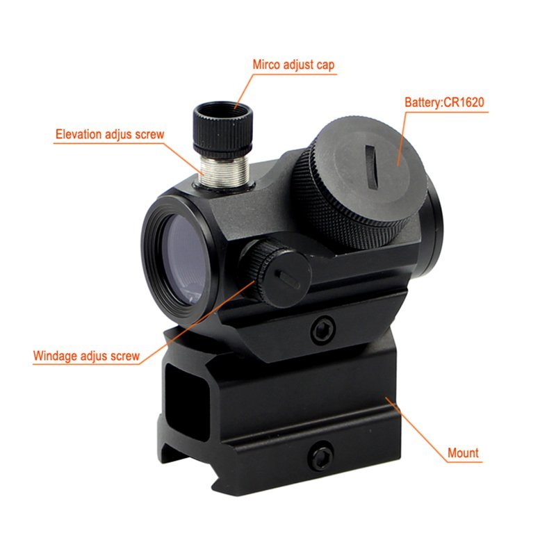 1x22 Tactical 3 moa Best Rimfire Scope  HD-26M