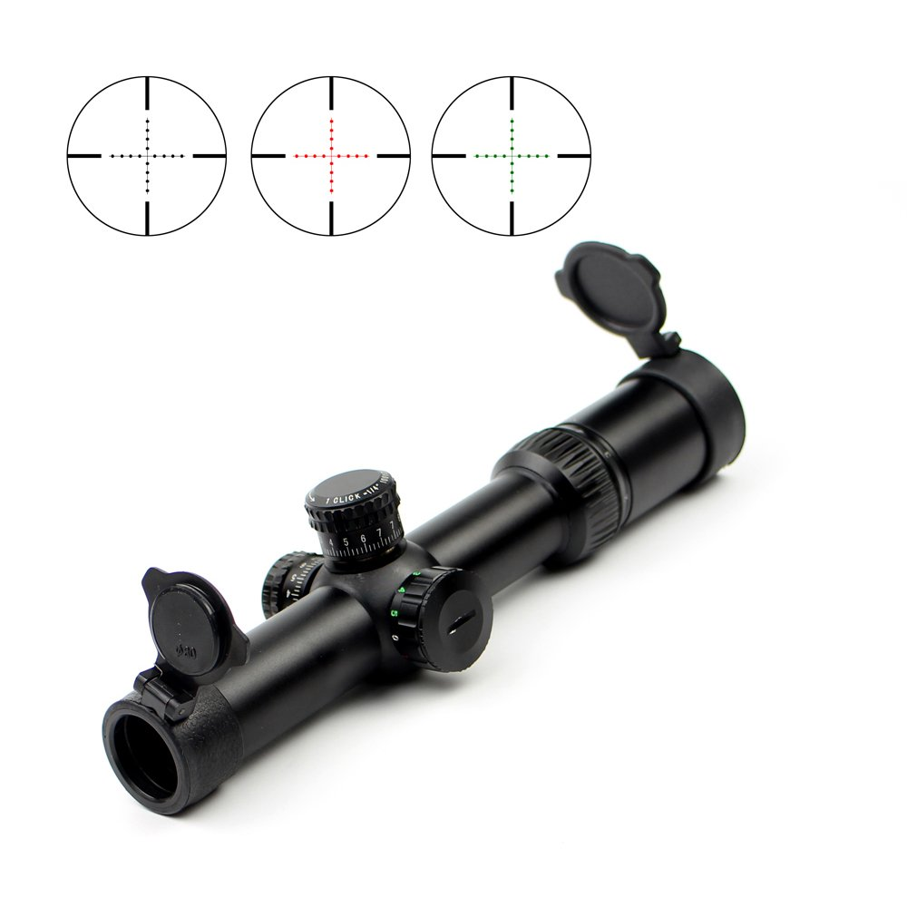 1 Tube 1/4 Moa Aluminium Bar FFP Rifle Scope Long Range Hunting  Q1.5-6x24E