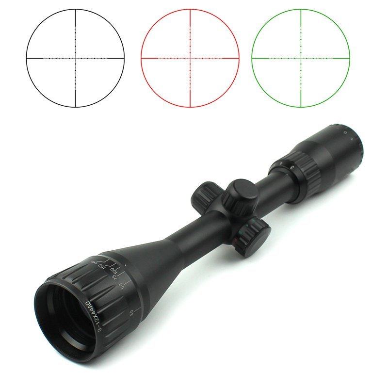 First Focal Plane hunting Scopes Best Ar Scope Red Green Blue Mil Dot Reticle  3-12x44AOE