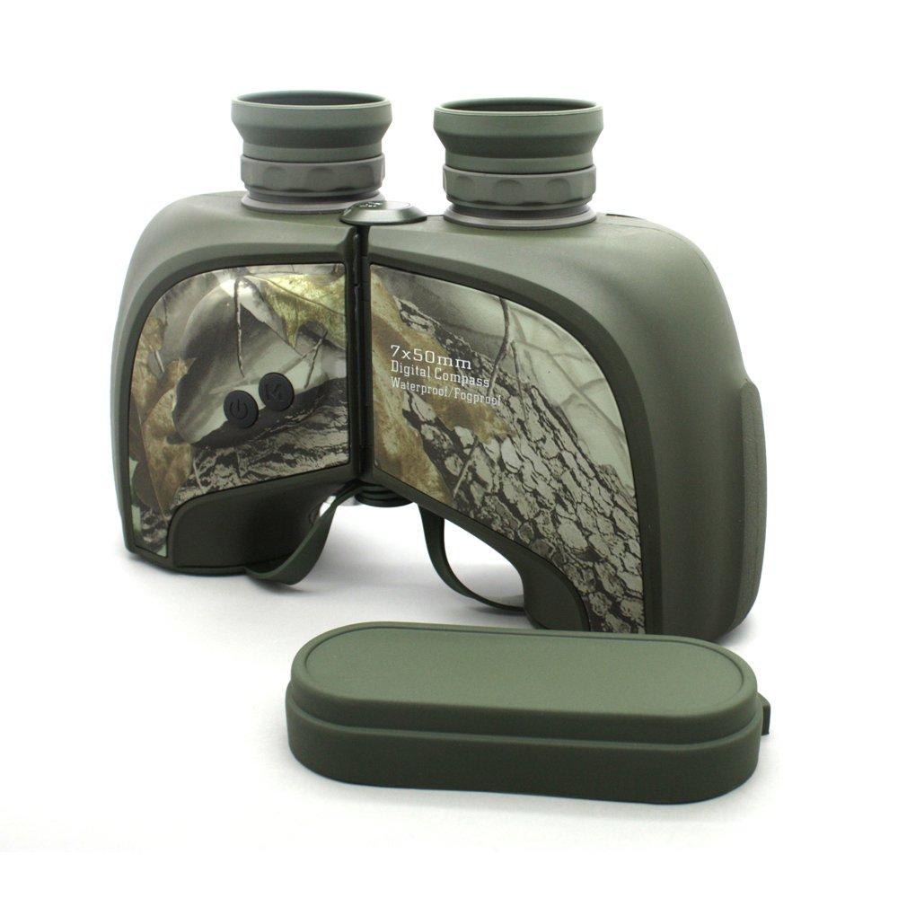 Camouflage Ipx5 Waterproof Military Tactical 7x50 Rangefinder Binoculars  MZ7x50D