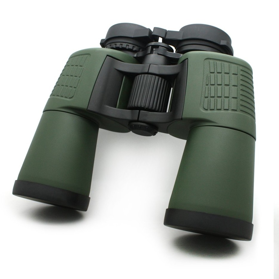Water Resistant 10x50 Long Range Binoculars With Eye Caps Green Color MZ10x50