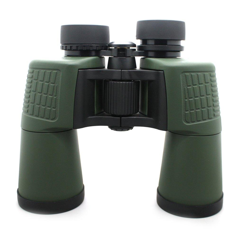 Water Resistant 10x50 Long Range Binoculars With Eye Caps Green Color MZ10x50