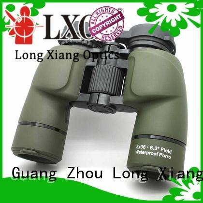 black nitrogen yellow waterproof binoculars Long Xiang Optics Brand company