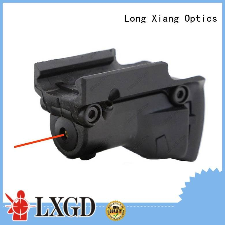 Long Xiang Optics red tactical flashlight with laser rifle
