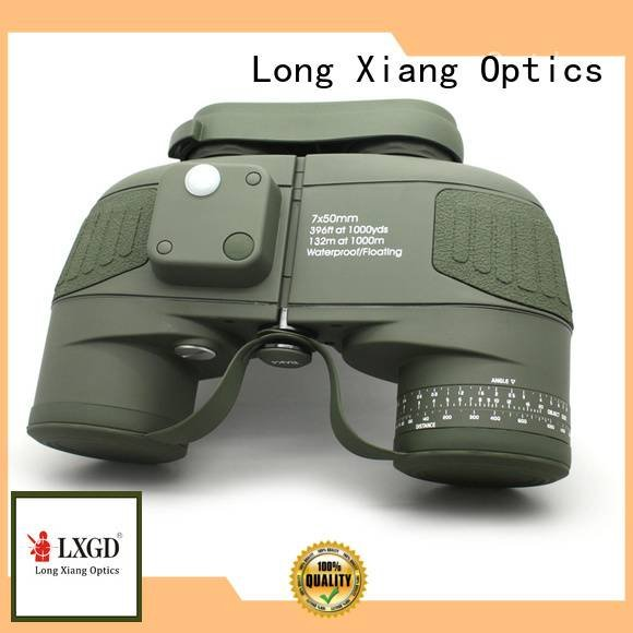 compact waterproof binoculars optical green OEM waterproof binoculars Long Xiang Optics