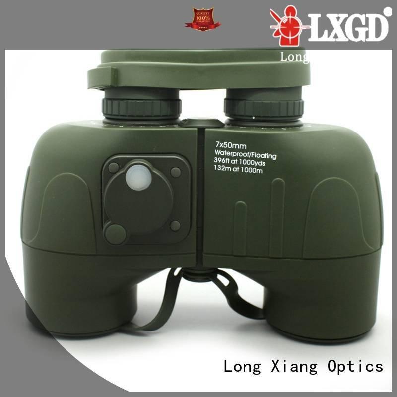 green customized brand compact waterproof binoculars Long Xiang Optics