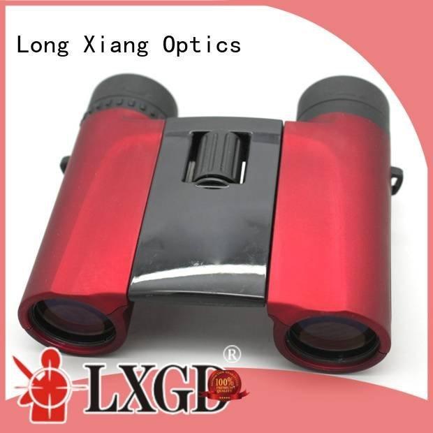 Custom waterproof binoculars yellow powered cover Long Xiang Optics