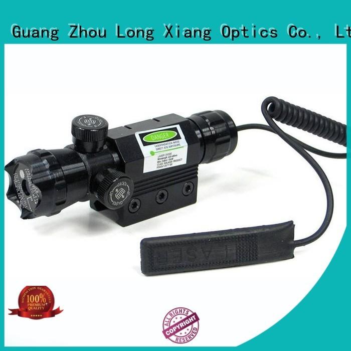 Long Xiang Optics Brand rail color custom tactical flashlight with laser