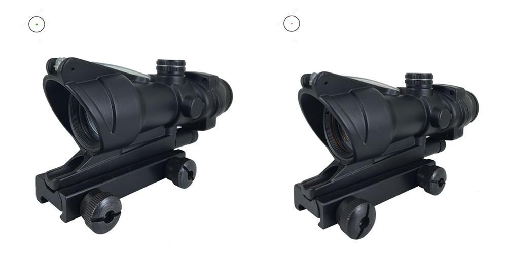Long Xiang Optics-Open Red Dot Sight | Hunting 1x32 Scopes Sight Optics Real Fiber R Or G
