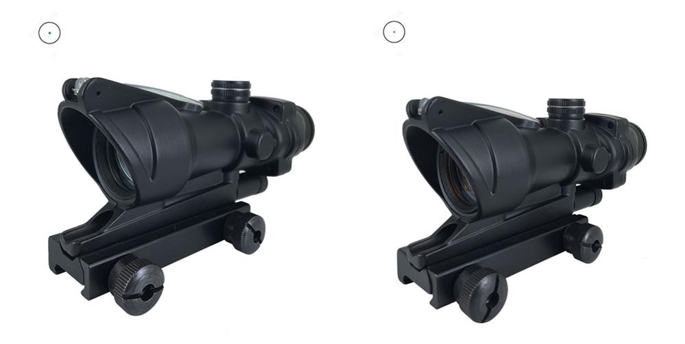 Long Xiang Optics-1x32 Scopes Sight Optics Real Fiber R or G Dot Scope w2011mm rail