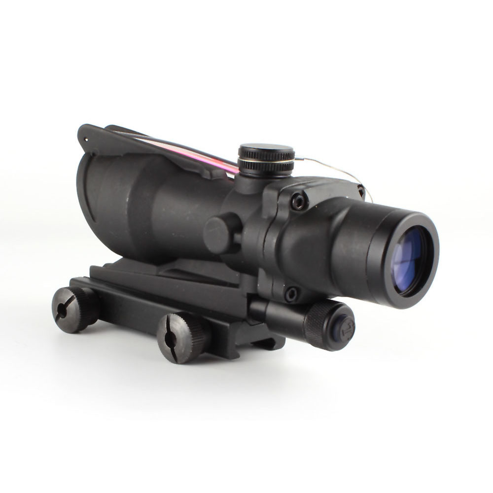Factory Direct Sale 223 Tactical Scope w/False Fiber Crosshair 4x Long Range Precision Scopes 4x32CE