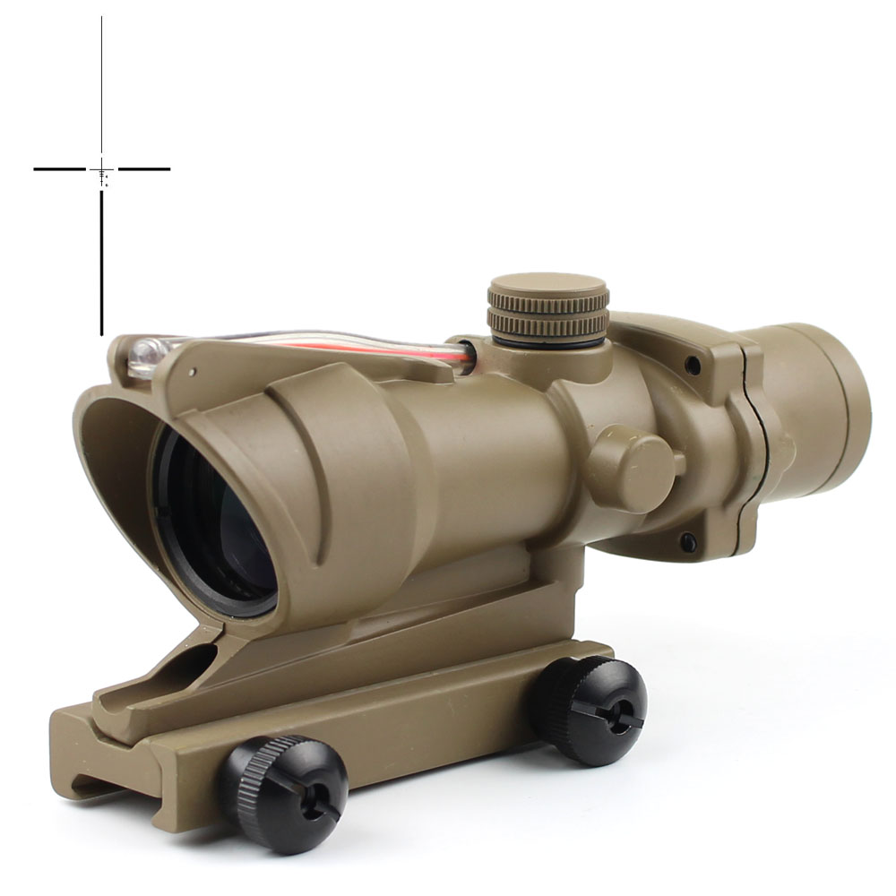 Long Xiang Optics-New Fiber Optic Illuminated Rifle Scope 4x Magnification 4x32c | Tactical-1
