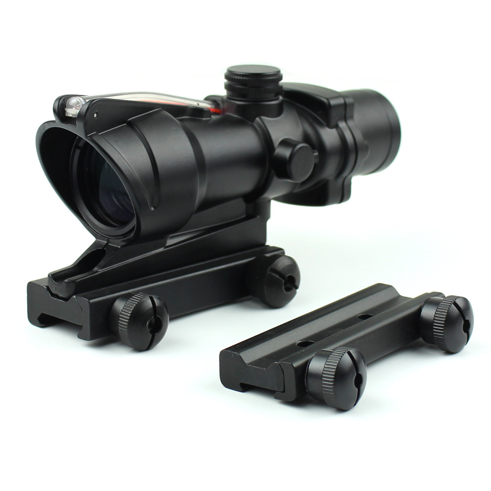 Long Xiang Optics-New Fiber Optic Illuminated Rifle Scope 4x Magnification 4x32c | Tactical-2