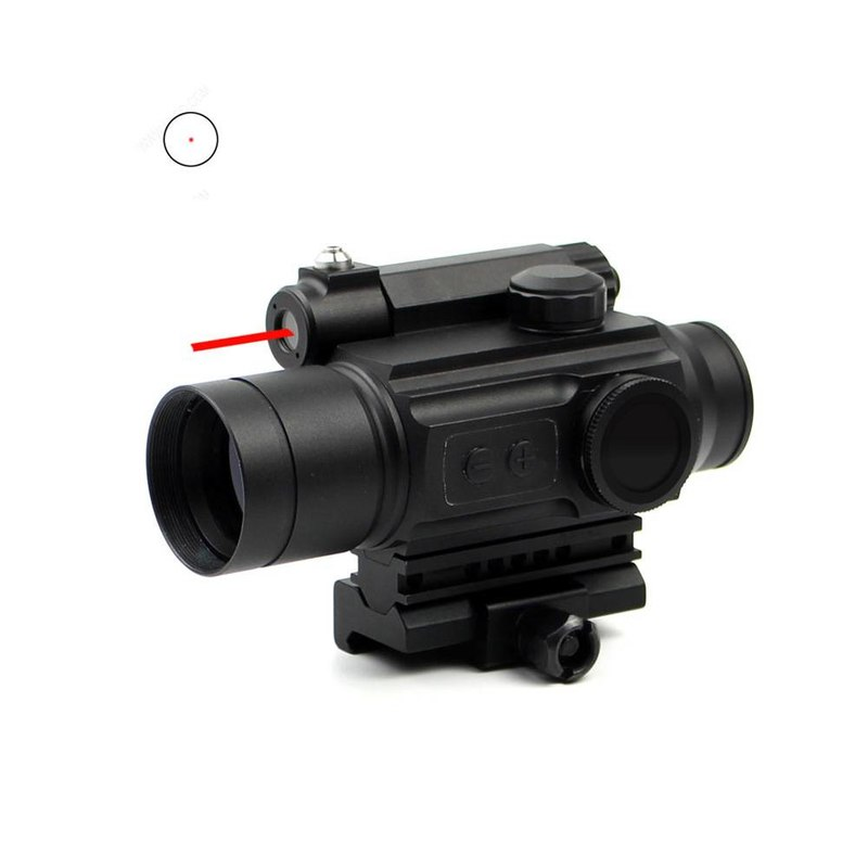 Red Dot Sight Scope & Laser Sight Combo With Rail Mount HD-25