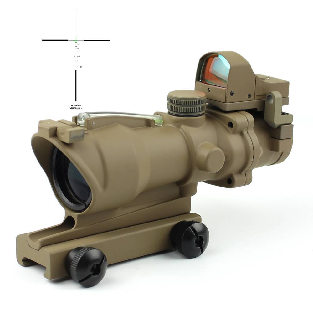 Illuminated Mil Dot Tactical Scopes W/ DR Drop Bullet Circle 4x32C2A