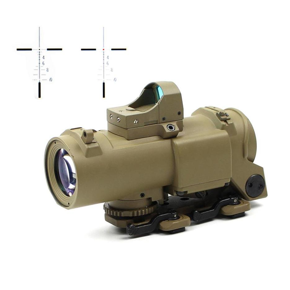 Best Tactical Scope Air Soft 1&4x Optics Scope With Red Dot Sight 1-4x32F
